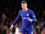 Ross Barkley in action for Chelsea in the EFL Cup on January 24, 2018