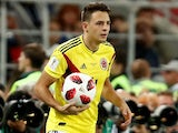 Santiago Arias in action for Colombia at the World Cup on July 3, 2018