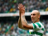 Scott Brown in action for Celtic on May 20, 2018