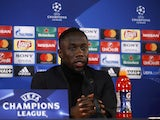 Bacary Sagna during a Manchester City Champions League press conference in March 2017