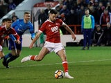 Ben Brereton scores for Nottingham Forest on January 7, 2018