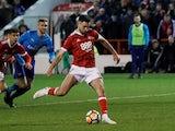 Ben Brereton scores for Nottingham Forest on January 7, 2018
