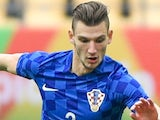 Borna Barisic in action for Croatia in January 2017