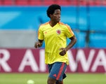 Carlos Sanchez in a COLOMBIA training session on June 23, 2018