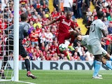 Daniel Sturridge rounds off the massacre during the Premier League game between Liverpool and West Ham United on August 12, 2018