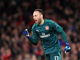 David Ospina in action for Arsenal in the Europa League on April 26, 2018