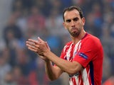 Diego Godin in action for Atletico Madrid in the Europa League final on May 16, 2018