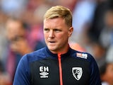Bournemouth manager Eddie Howe watches on during his side's 2-0 win over Cardiff City in the Premier League on August 11, 2018