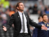 Derby County boss Frank Lampard watches on during his side's Championship clash with Leeds United on August 11, 2018
