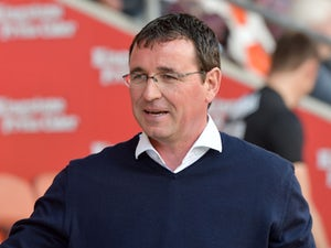 Gary Bowyer in charge of Blackpool on September 2, 2017
