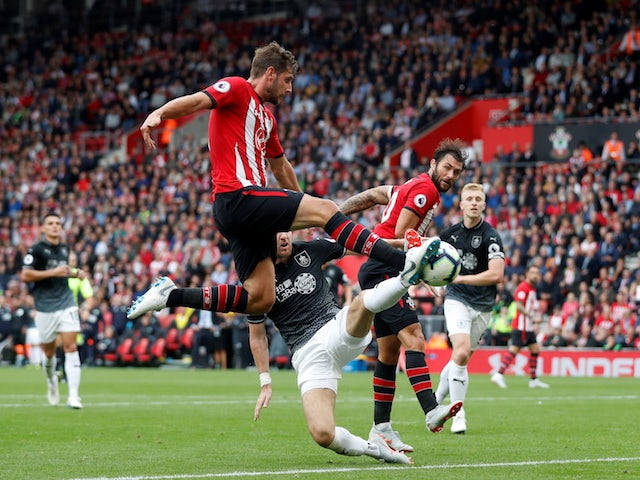 Jack Stephens in action during the Premier League game between Southampton and Burnley on August 12, 2018