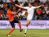 James Tarkowski in action during the Europa League quarter-final game between Istanbul Basaksehir and Burnley on August 9, 2018