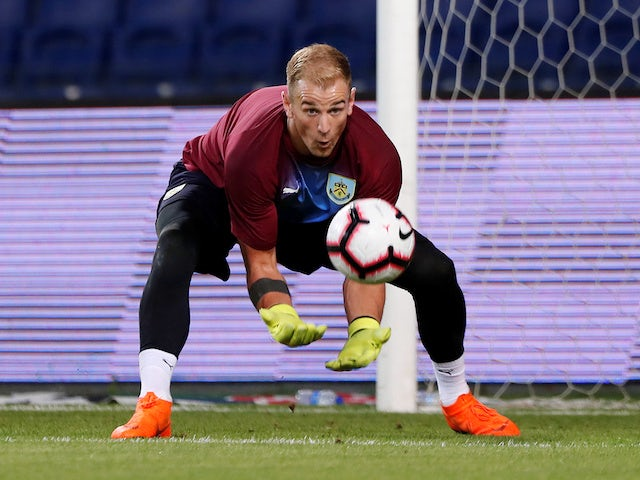 Joe Hart warms up prior to the Europa League quarter-final game between Istanbul Basaksehir and Burnley on August 9, 2018
