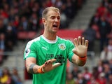 Joe Hart in action during the Premier League game between Southampton and Burnley on August 12, 2018