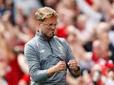 An understated Jurgen Klopp during the Premier League game between Liverpool and West Ham United on August 12, 2018