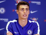 Kepa Arrizabalaga speaks at a Chelsea press conference on August 9, 2018