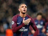 Layvin Kurzawa in action for PSG on October 31, 2017