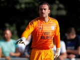 Lee Camp in action for Cardiff City against the formidable Taff's Well on July 13, 2018