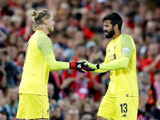 Loris Karius comes on for Alisson during the pre-season friendly between Liverpool and Torino on August 7, 2018