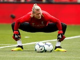 Loris Karius protects the balls during the Premier League game between Liverpool and West Ham United on August 12, 2018