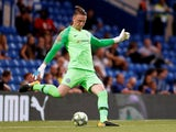 Marcin Bulka in action during the pre-season friendly between Chelsea and Lyon on August 7, 2018