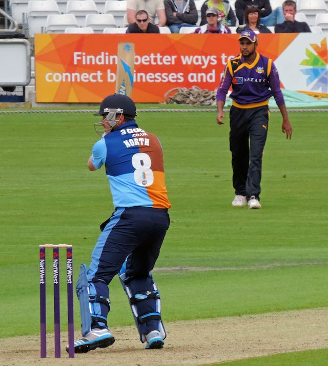 Adil Rashid on duty for Yorkshire in white ball cricket
