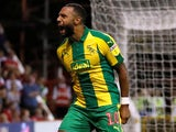 Matt Phillips celebrates grabbing the equaliser during the Championship game between Nottingham Forest and West Bromwich Albion on August 7, 2018