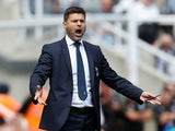 Tottenham Hotspur manager Mauricio Pochettino barks instructions during his side's Premier League clash with Newcastle United on August 11, 2018