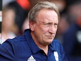 Cardiff City manager Neil Warnock watches on during his side's 2-0 defeat to Bournemouth in the Premier League on August 11, 2018
