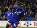 Omar Bogle in action for Cardiff City on December 1, 2018