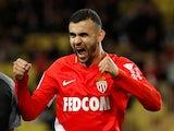 Rachid Ghezzal celebrates scoring for Monaco on January 21, 2018