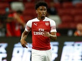 Reiss Nelson in action for Arsenal in pre-season on July 26, 2018