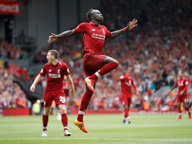 Sadio Mane nabs the third during the Premier League game between Liverpool and West Ham United on August 12, 2018