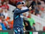 Boro boss Tony Pulis gives orders during the Championship game between Middlesbrough and Sheffield United on August 7, 2018