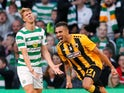 Viktor Klonaridis gets an equaliser during the Champions League qualifying game between Celtic and AEK Athens on August 8, 2018