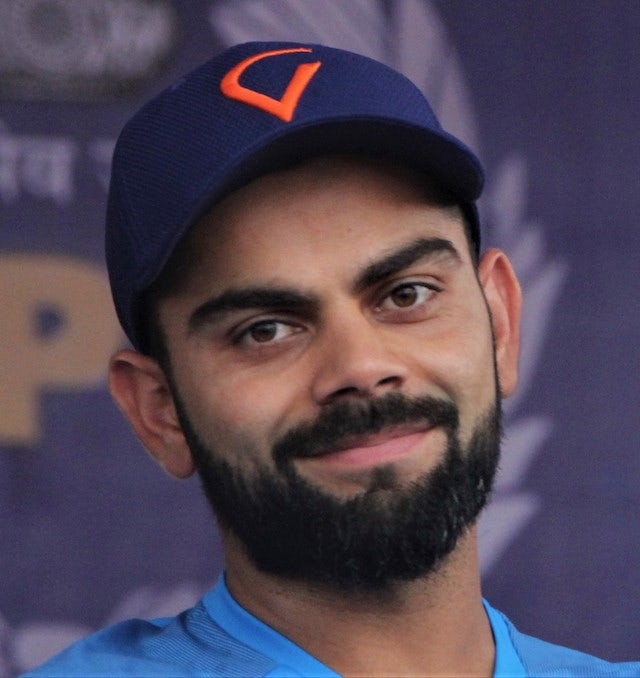 Virat Kohli wasn't smiling after being bowled by Rashid's unplayable delivery