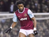 Alex Song in action for West Ham United in February 2016