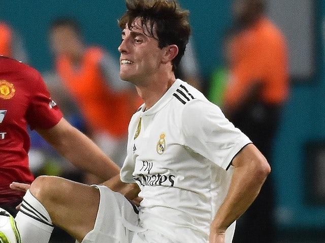 Alvaro Odriozola in action for Real Madrid in pre-season on July 31, 2018