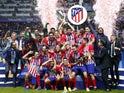 Atletico Madrid celebrate winning the UEFA Super Cup on August 15, 2018