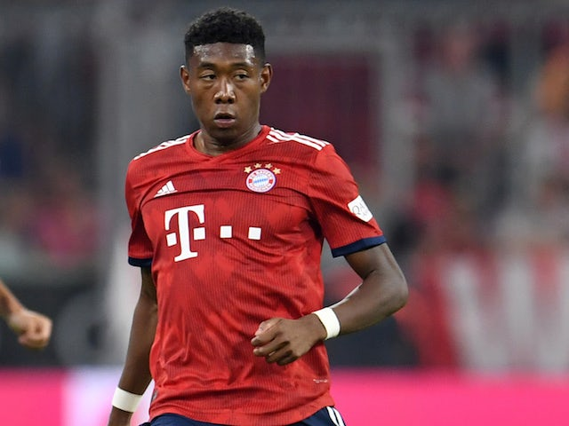 David Alaba in action for Bayern Munich in pre-season on August 7, 2018