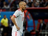 Spain midfielder David Silva reacts at the 2018 World Cup