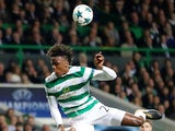 Dedryck Boyata in action for Celtic in the Champions League on October 31, 2017