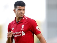 Dominic Solanke in action for Liverpool in pre-season on July 18, 2018