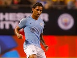 Douglas Luiz in action for Manchester City in pre-season on July 20, 2018
