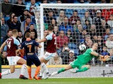 Burnley goalkeeper Joe Hart makes a save during his side's Europa League qualifier with Istanbul Basaksehir on August 16, 2018