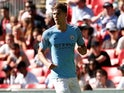 John Stones in action for Manchester City during the Community Shield on Auugust 7, 2018