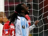 Jordan Lukaku in action for Lazio in the Europa League on December 7, 2017