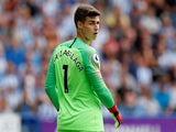 Chelsea's Kepa Arrizabalaga strikes a pose on August 11, 2018