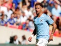 Manchester City full-back Kyle Walker in action during the Community Shield clash with Chelsea at Wembley