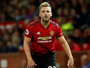 Luke Shaw in action for Manchester United on August 10, 2018